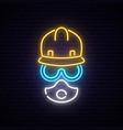 neon builder sign vector image