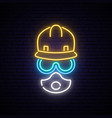 neon builder sign vector image vector image