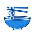 noodle soup line icon vector image vector image