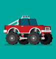 off road car isolated on color background monster vector image vector image