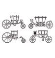 outline set dormeuse chariot or royal carriage vector image vector image
