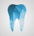 paper polygonal blue tooth vector image
