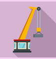 port crane icon flat style vector image