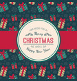 present boxes pattern and greeting text vector image vector image