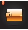 purse icon vector image vector image