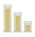 realistic detailed spaghetti pasta in a vector image