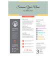 resume template vector image