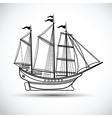 Sailing ship vector image vector image