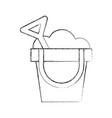 sand bucket beach toy vector image