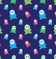 Seamless kids monsters - colorful background vector image vector image
