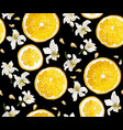 seamless pattern with circle slices of citrus vector image vector image