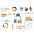 set elements infographics info bars graphycs vector image vector image