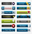 Set of Download Buttons vector image