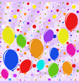 set of flat colored isolated flying balloons vector image