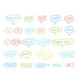 set sale stickers sketch words about sale drawn vector image