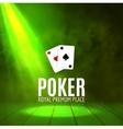 Shining Casino Banner Poster Show spotlight vector image vector image