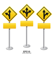 signs straight vector image vector image