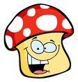 Smiling mushroom cartoon vector image