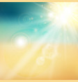 summer sun and beach shiny sunlight from sky vector image vector image