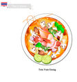 Tom Yum Goong or Thai Spicy and Sour Soup vector image vector image