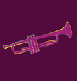 trumpet brass instrument used in classical vector image vector image