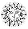 vintage sun antique symbol vector image