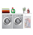 washing machine in modern laundry room vector image