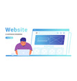 website e-commerce template to create electronic vector image