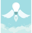 Flying winged ideas in the sky vector image