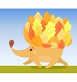 Autumn hedgehog vector image