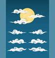 chinese cloud isolated vector image