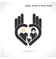 Hand icon and happy family concept vector image