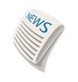 News cartoon icon vector image