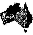 Wallaby on map of Australia vector image
