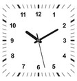 3d realistic clock vector image vector image