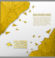 abstract background with golden polygons vector image
