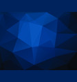 abstract dark blue background with triangles vector image vector image
