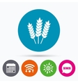 Agricultural sign icon Gluten free or No gluten vector image vector image