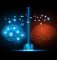ai human and robot brain network vector image