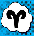 aries sign black icon in vector image vector image