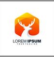 awesome gradient deer logo design vector image vector image