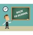 back to school scene vector image vector image
