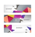 banners collection with abstract vector image vector image