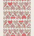 beige background with red decorative valentine vector image vector image