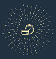 beige fast payments icon on dark blue background vector image vector image