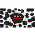 black friday sale banner discount background vector image vector image