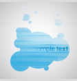 blue bubble background eps10 vector image