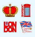 british symbols badges or stamps emblems vector image vector image