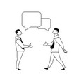 businessmen stretching hans to handshake vector image vector image