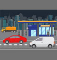 car refueling petrol at gas station vector image